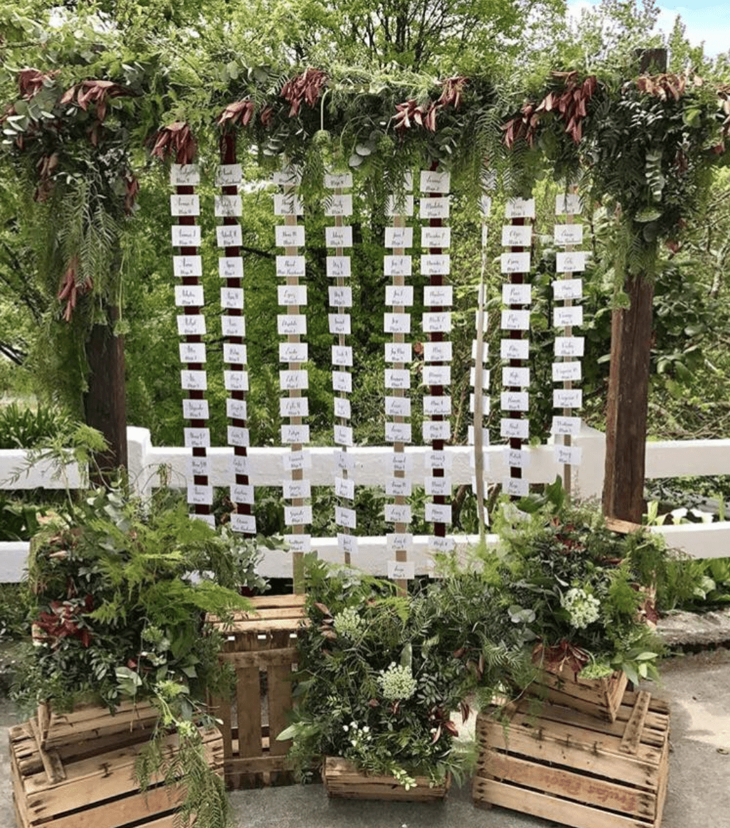 Suspended Foliage Table Plan